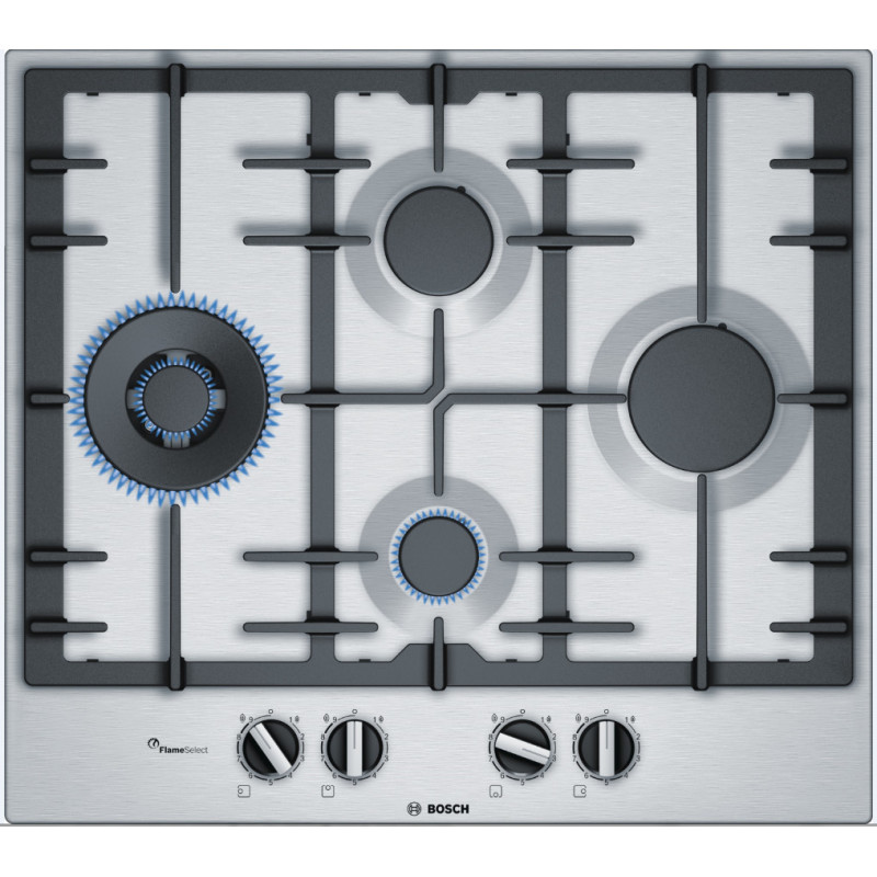 Bosch H45xW582xD520 Gas 4 Burner Hob With Flameselect-S/Steel primary image