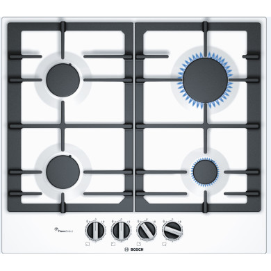 Bosch H45xW582xD520 Gas 4 Burner Hob With Flameselect-White