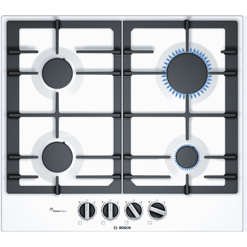 Bosch H45xW582xD520 Gas 4 Burner Hob With Flameselect-White primary image