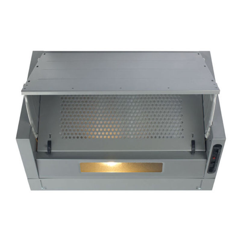 CDA H380xW600xD270 Integrated Cooker Hood - Silver primary image