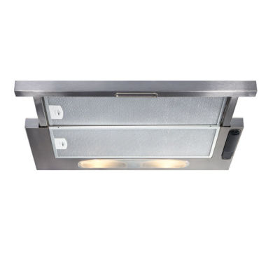 CDA H135xW600xD258 Telescopic Cooker Hood - Stainless Steel