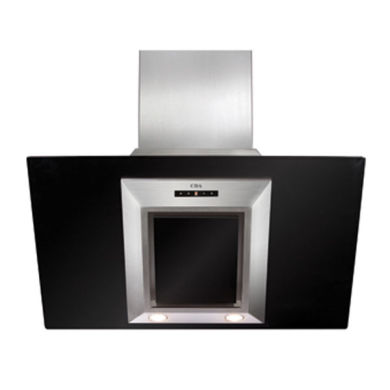 CDA H1360xW900xD340 Angled Glass Chimney Cooker Hood - Black