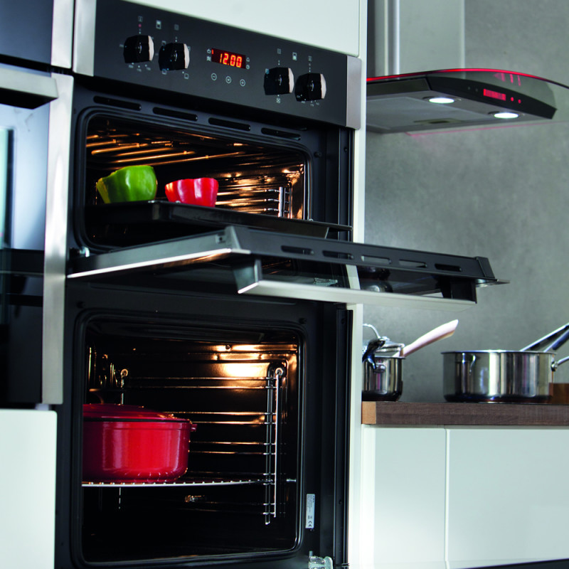 cda h888xw595xd562 built in electric double oven black. Black Bedroom Furniture Sets. Home Design Ideas