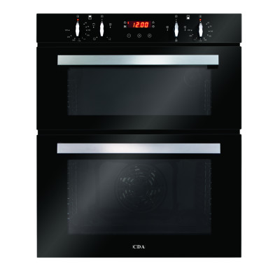 CDA H888xW595xD562 Built-In Electric Double Oven - Black