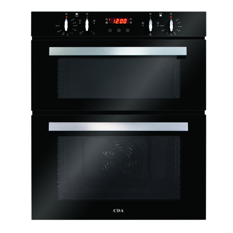 CDA H888xW595xD562 Built-In Electric Double Oven - Black primary image
