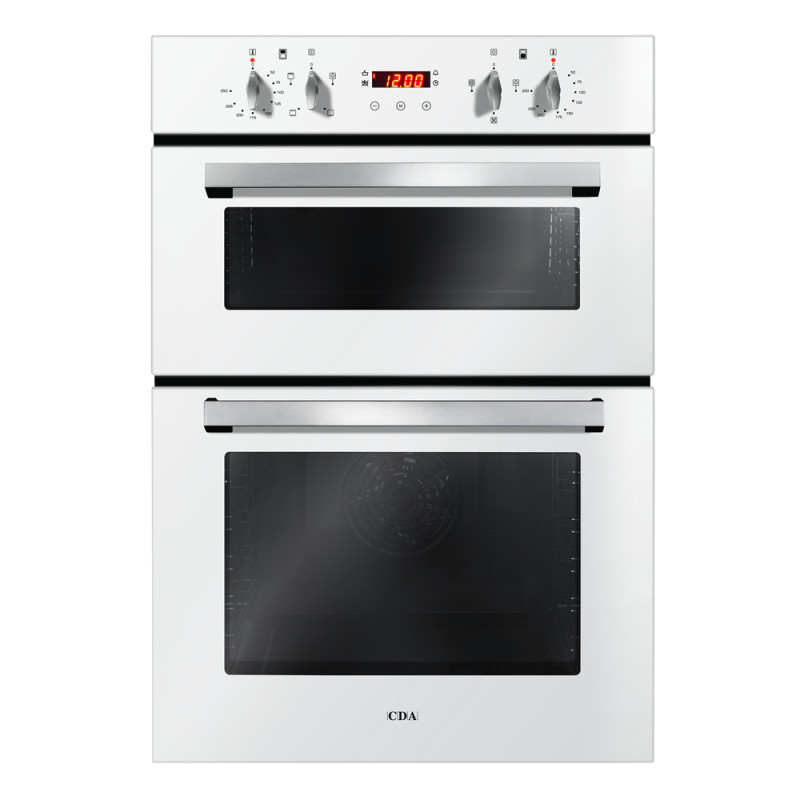 CDA H888xW595xD562 Built-In Electric Double Oven - White primary image