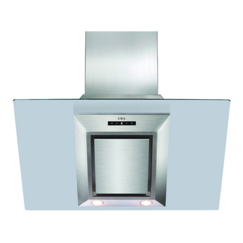 CDA H1360xW900xD340 Angled Glass Chimney Cooker Hood - Stainless Steel primary image