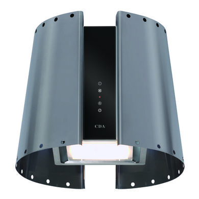CDA H430xW510xD510 Lampshade Style Chimney Cooker Hood - Stainless Steel - 3L9SS