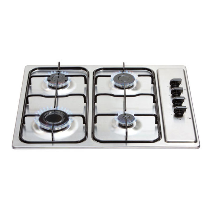 Matrix H30xW585xD500 Gas 4 Burner Hob - Stainless Steel additional image 1