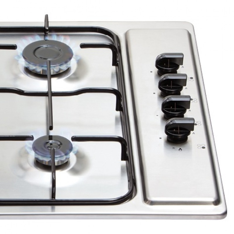 Matrix H30xW585xD500 Gas 4 Burner Hob - Stainless Steel additional image 2