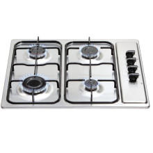 Matrix H30xW585xD500 Gas 4 Burner Hob - Stainless Steel