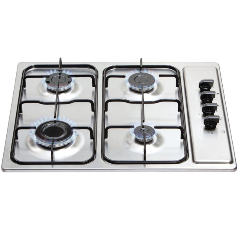 Matrix H30xW585xD500 Gas 4 Burner Hob - Stainless Steel primary image