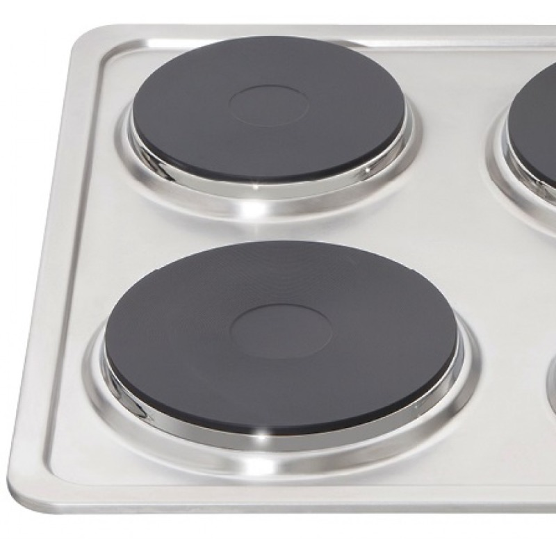 Matrix H38xW585xD500 Solid Plate Hob - Stainless Steel additional image 2