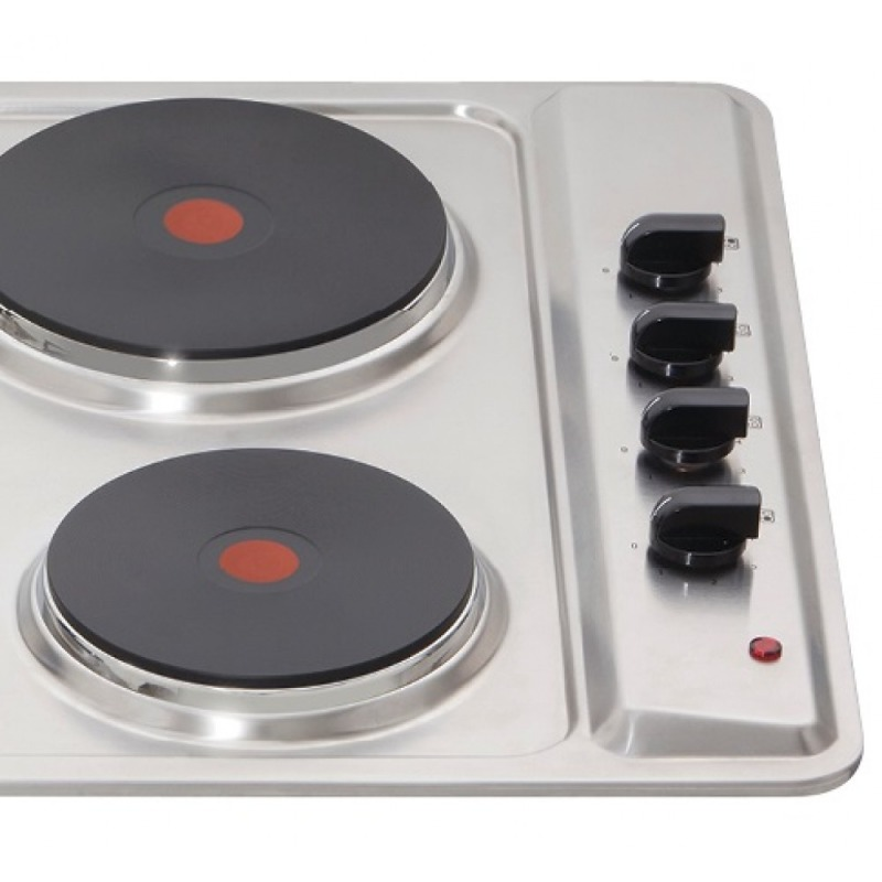 Matrix H38xW585xD500 Solid Plate Hob - Stainless Steel additional image 3