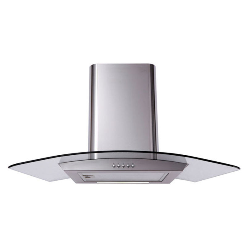 Matrix H731xW900xD500 Curved Glass Chimney Cooker Hood - Stainless Steel - MEP901SS primary image