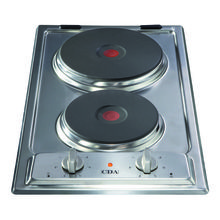 CDA H30xW288xD510 Solid Plate 2 Burner Hob - Stainless Steel
