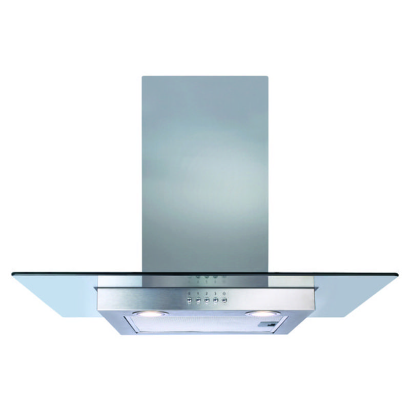CDA H1020xW700xD500 Flat Glass Chimney Cooker Hood - Stainless Steel primary image