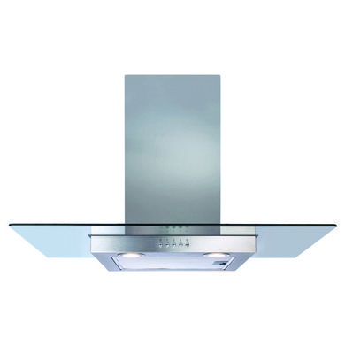 CDA H1020xW900xD500 Flat Glass Chimney Cooker Hood - Stainless Steel
