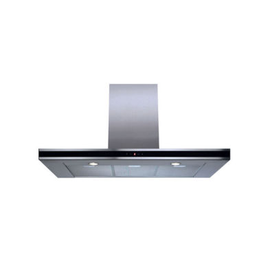 CDA H995xW900xD490 Chimney Cooker Hood - Stainless Steel - Black Trim