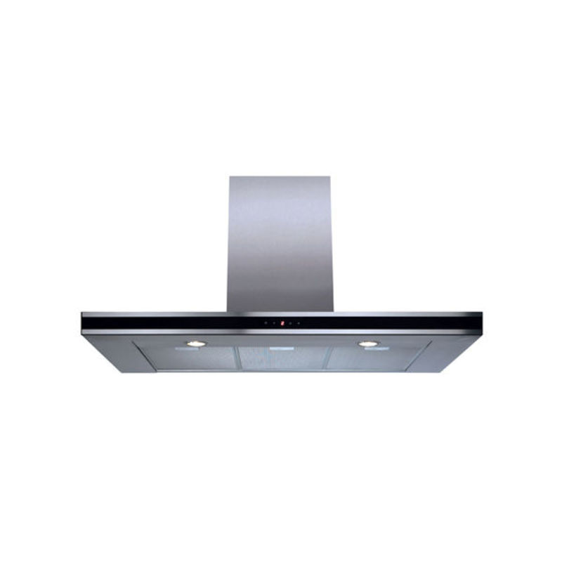 CDA H995xW1000xD490 Chimney Cooker Hood - Stainless Steel - Black Trim primary image