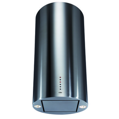 CDA H1190xW400xD400 Island Cylinder Chimney Cooker Hood - Stainless Steel