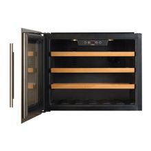 CDA H455xW592xD545 Compact Integrated Wine Cooler - Stainless Steel (24 bottles)