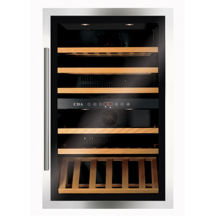 CDA H884xW592xD545 Tower Integrated Wine Cooler - Stainless Steel (55 bottles)