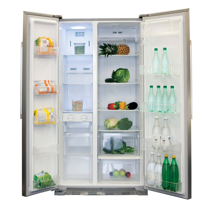 CDA H1760xW902xD750 American Style Freestanding Fridge Freezer - Silver additional image 1