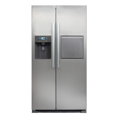 CDA H1760xW890xD750 American Style Fridge Freezer With Ice and Water - Silver