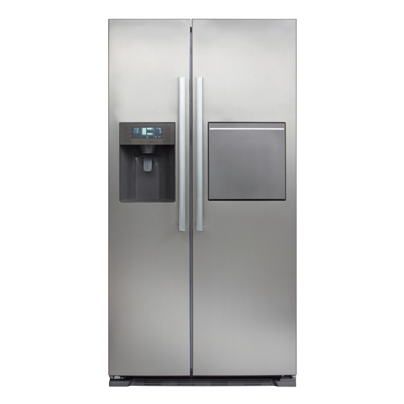 CDA H1760xW890xD750 American Style Fridge Freezer With Ice and Water - Silver primary image