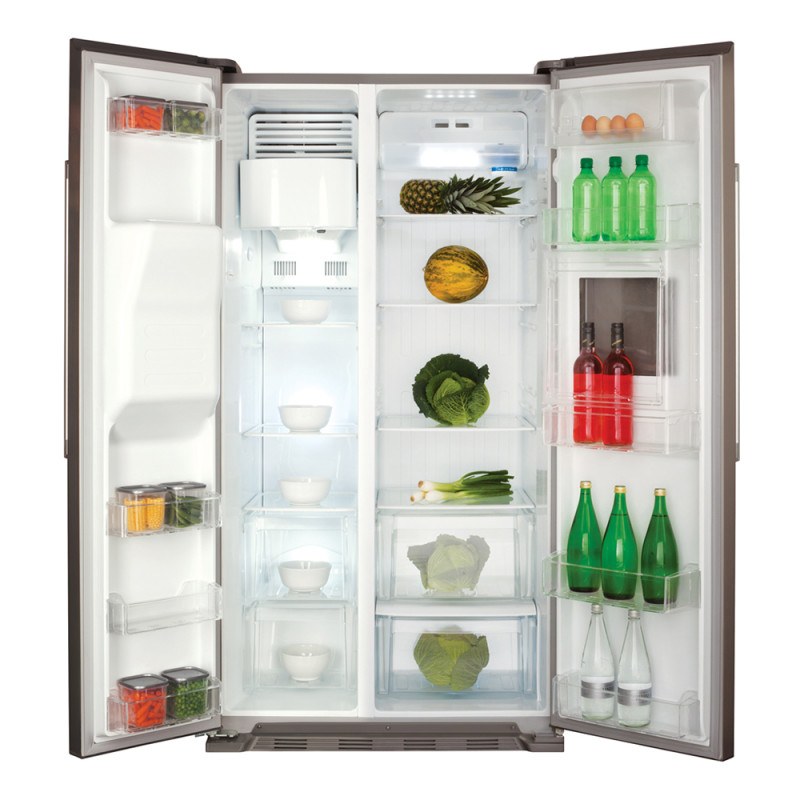 CDA H1760xW890xD750 American Style Fridge Freezer With Ice and Water - Silver additional image 4