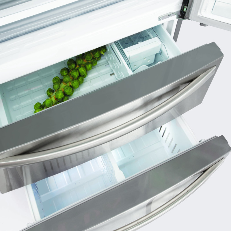 CDA H1775xW911xD789 American Style Fridge Freezer With Drawers - Stainless Steel additional image 1