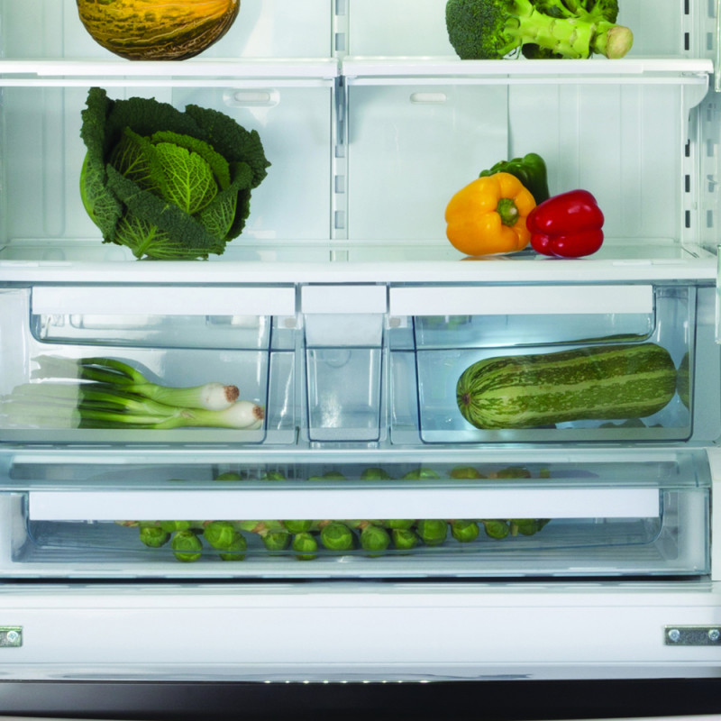 CDA H1775xW911xD789 American Style Fridge Freezer With Drawers - Stainless Steel additional image 4