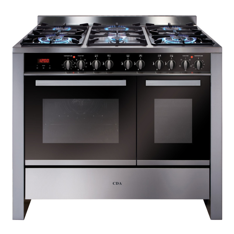 CDA H915xW1000xD600 1000mm Dual Fuel Rangecooker Twin Cavity - Stainless Steel - RV1002SS primary image