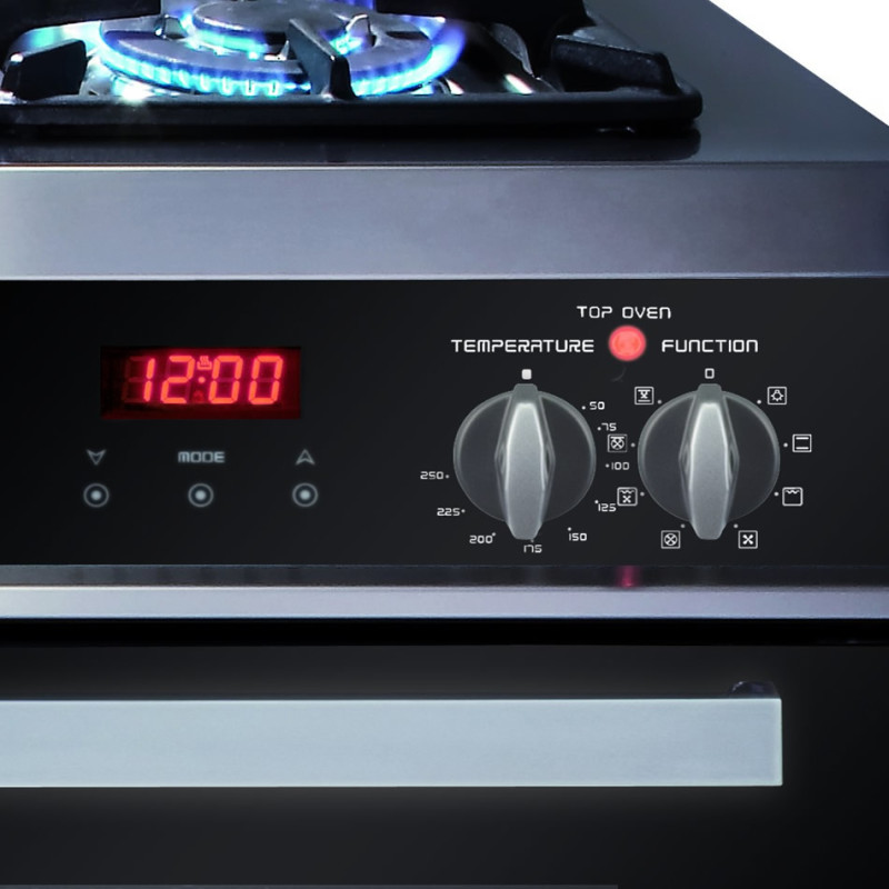 CDA H925xW1200xD600 Dual Fuel Rangecooker - Stainless Steel - RV1200SS additional image 2