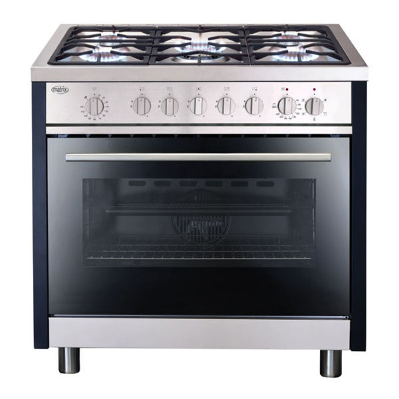 Matrix MR111SS 900mm Dual Fuel Rangecooker Single - Stainless Steel - MR111SS primary image