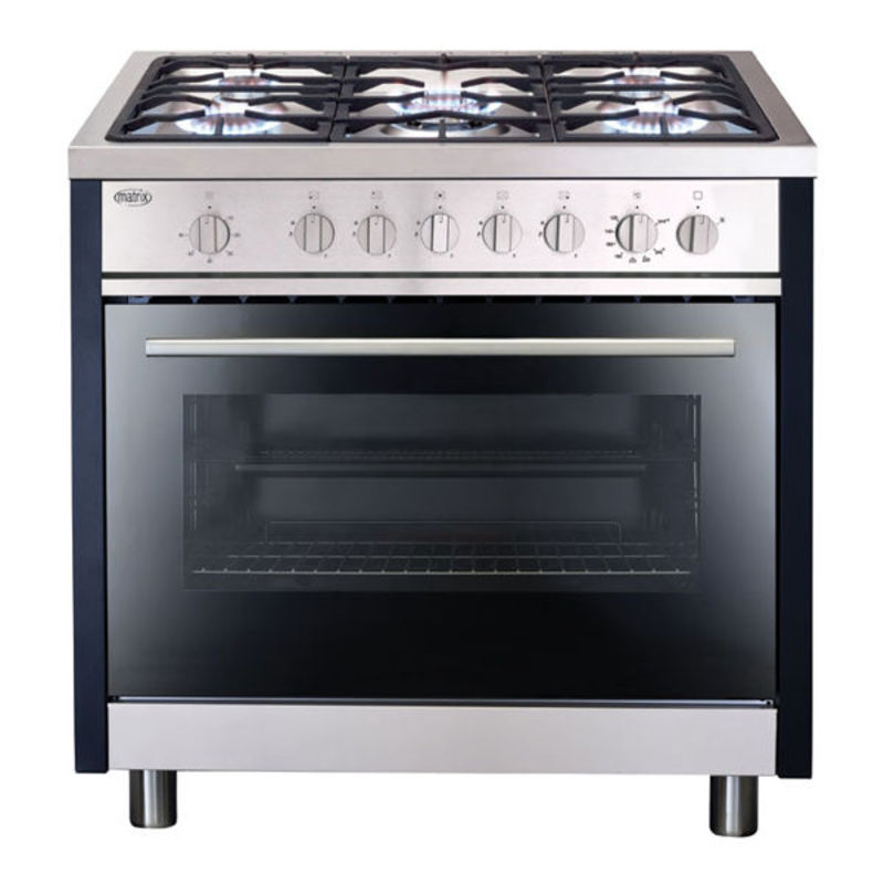 Matrix MR311SS 900mm All Gas Rangecooker Single Cavity - Stainless Steel - MR311SS primary image