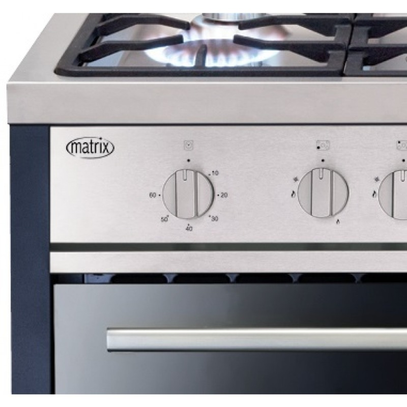 Matrix MR311SS 900mm All Gas Rangecooker Single Cavity - Stainless Steel - MR311SS additional image 2