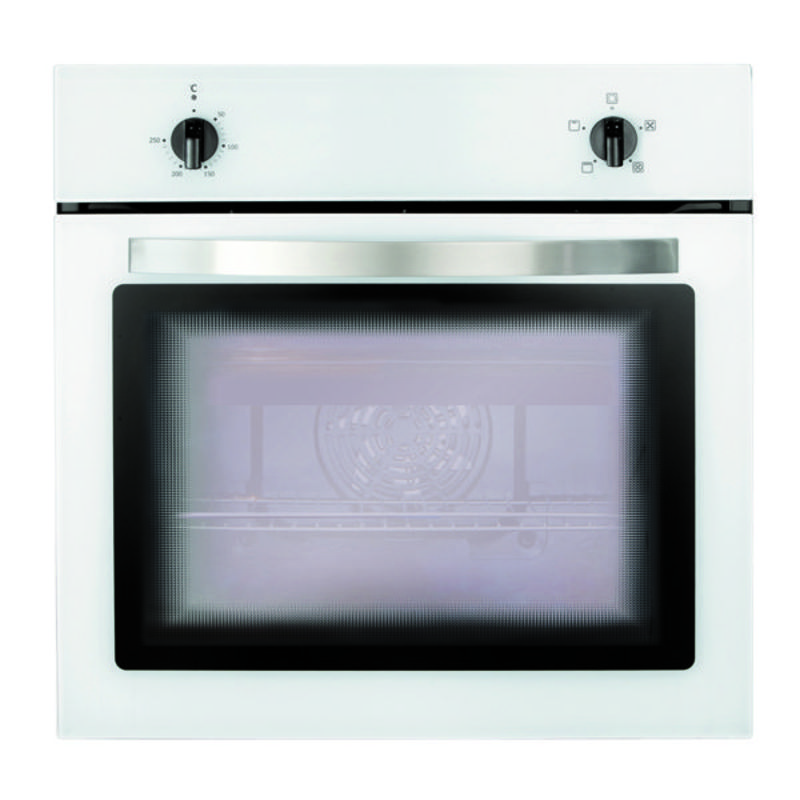 Matrix H595xW595xD542 Single Fan Oven - White primary image