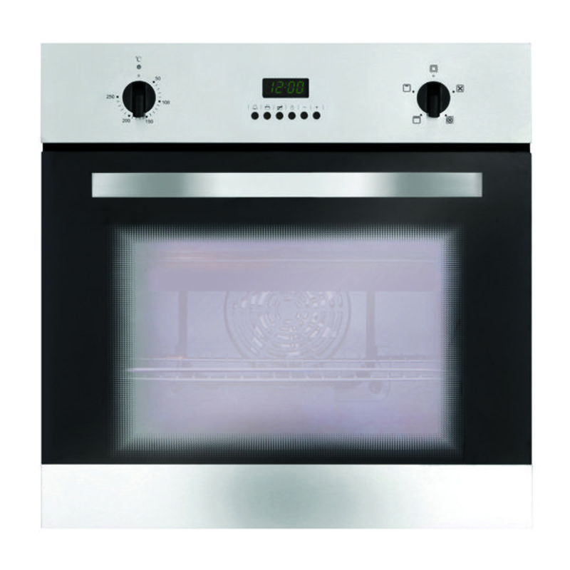 Matrix H595xW595xD542 Single Fan Oven - Stainless Steel with Clock primary image