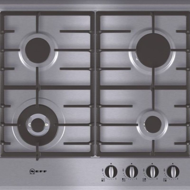 Neff H45xW582xD520 Gas 4 Burner Hob - Stainless Steel primary image