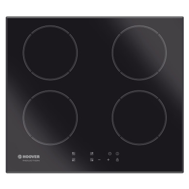 Hoover H52xW590xD520 4 Zone Hob Induction - Black (Touch Control)