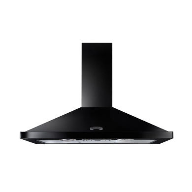 Rangemaster LEIHDC110BC 110cm Chimney Cooker Hood - Black Chrome (No Rail) - LEIHDC110BC/