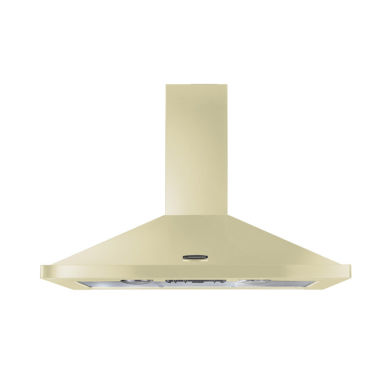 Rangemaster LEIHDC110CR/C 110cm Chimney Cooker Hood - Cream Chrome
