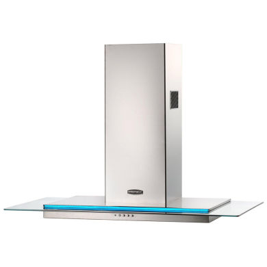 Rangemaster RMHDT90SS Toledo 900mm Chimney Cooker Hood - Stainless Steel Glass - RMHDT90SS/