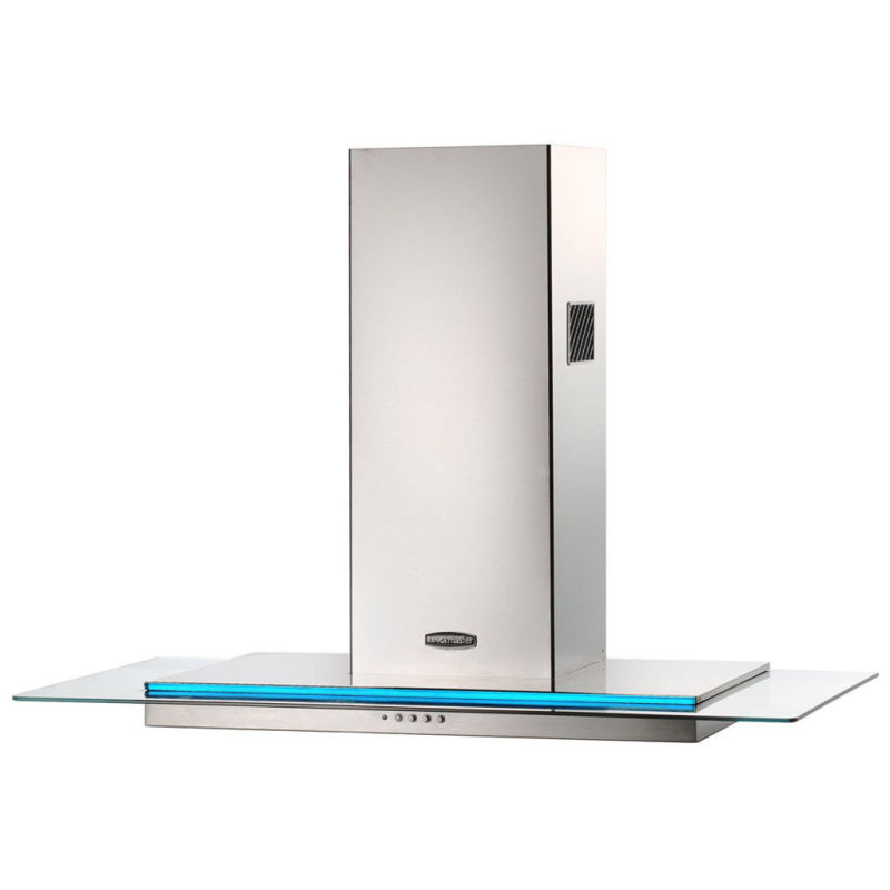 Rangemaster RMHDT90SS Toledo 900mm Chimney Cooker Hood - Stainless Steel Glass - RMHDT90SS/ primary image