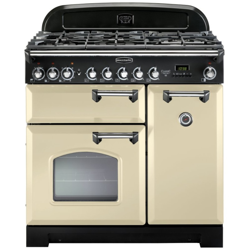 Rangemaster CLAS90NGFCR/C Classic 90 FSD Natural Gas - Cream/Chrome primary image