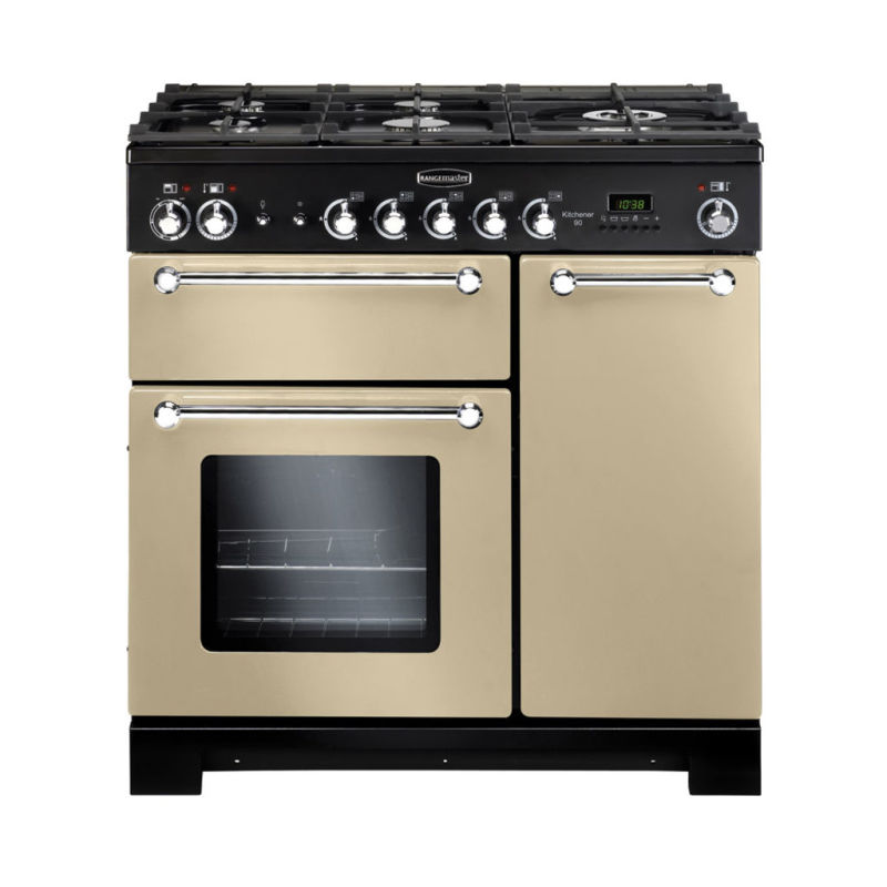 Rangemaster KCH90DFFCR/C Kitchener 90 Dual Fuel FSD - Cream/Chrome - KCH90DFFCR/C primary image