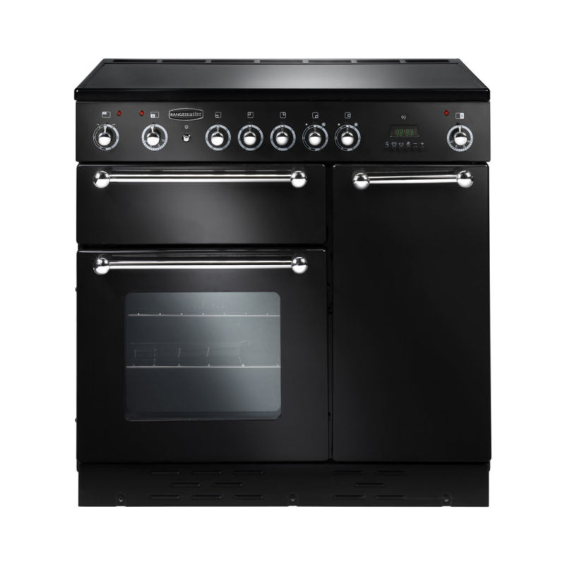 Rangemaster RMS90ECBL/PDC 90 Ceramic - Black/Chrome primary image
