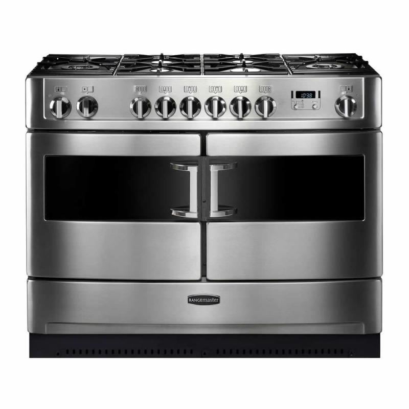 Rangemaster ELTSE110DFSS/M Elite SE 110 Dual Fuel FSD S/S Matt Pan Supports primary image